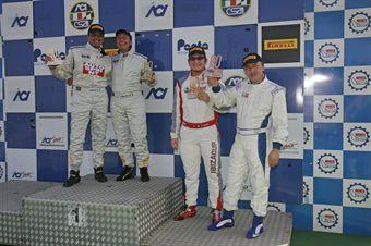 Podio gara 1,  Busnelli Moccia (DTM Motorsport, SEAT Leon Cupra B2.0T #101), Barin Zuffi (MM Motorsport,SEAT Leon B2.OT #106) , TCR ITALY TOURING CAR CHAMPIONSHIP
