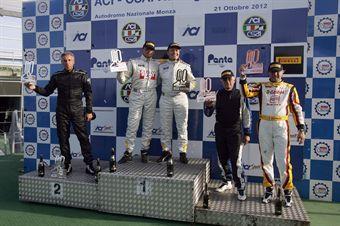 Podio gara 2,  Busnelli Moccia (DTM Motorsport, SEAT Leon Cupra B2.0T #101), Carlo Gozzi (Bmw M3 SP #118), Pigozzi Vita ( PAI Srl,Seat Leon Cupra SP #103) , TCR ITALY TOURING CAR CHAMPIONSHIP