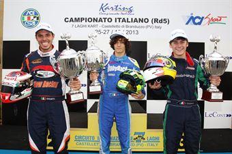 Campioni 2013: Alessandro Giulietti (KZ2), Alessio Lorandi (KF3), Julien Darras (KF2), ITALIAN ACI KARTING CHAMPIONSHIP