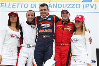 KZ2   Podio gara 1 Giulietti, Mazzali, Zanchetta, ITALIAN ACI KARTING CHAMPIONSHIP
