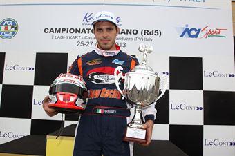 KZ2   Podio gara 1 Giulietti, CAMPIONATO ITALIANO ACI KARTING