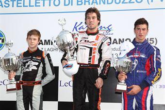 KF2   Podio 2 Cucco, Ilott, Vigorito, ITALIAN ACI KARTING CHAMPIONSHIP