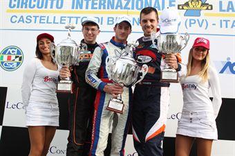 KZ2   Podio 2 Celenta, Pollini, Giulietti, ITALIAN ACI KARTING CHAMPIONSHIP