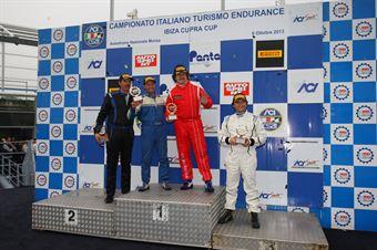 Podio gara 2 Super Produzione, Semeraro Barin (Alfa Romeo 2.4 JTD D 2.5T #24), TCR ITALY TOURING CAR CHAMPIONSHIP