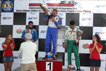 KZ2   Podio 1. Pastacaldi, 2. Albano Strucco, 3. Stinchelli, ITALIAN ACI KARTING CHAMPIONSHIP