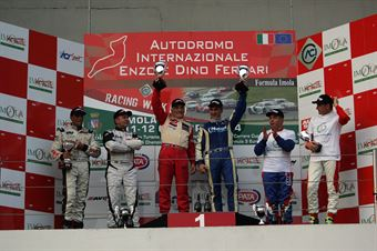 Gara 2 podio, Meloni Necchi ( W&D Racing Team Sc. S.Marino, BMW M3 E46 #31)Busnelli Moccia (DTM Motorsport, SEAT Leon Long Run B 2.OT #1), Meloni Tresoldi (W&D RT Sc. S.Marino , BMW M3 E46 #32), TCR ITALY TOURING CAR CHAMPIONSHIP