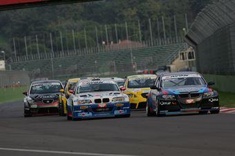 Valli Gabellini (Zerocinque Motorsport, BMW M3 E90 #33), Meloni Tresoldi (W&D RT Sc. S.Marino , BMW M3 E46 #32) , TCR ITALY TOURING CAR CHAMPIONSHIP