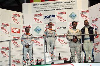 Podio gara 1, Valentina Albanese (Seat Motorsport Italia,Seat Leon Racer TCR #101), Jordi Genè Guerrero(Seat Motorsport Italia,Seat Leon Racer TCR #103), Palazzo Zanin (W&D Racing Team,BMW M3 E46 #2), TCR ITALY TOURING CAR CHAMPIONSHIP