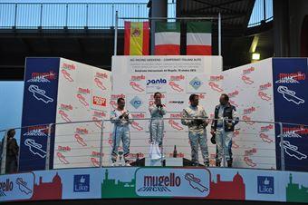 Podio gara 1, Valentina Albanese (Seat Motorsport Italia,Seat Leon Racer TCR #101), Jordi Genè Guerrero(Seat Motorsport Italia,Seat Leon Racer TCR #103), Palazzo Zanin (W&D Racing Team,BMW M3 E46 #2) , TCR ITALY TOURING CAR CHAMPIONSHIP