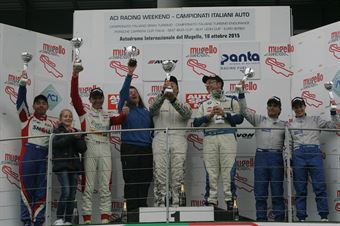 Gara 2 podio 1°div. Palazzo Zanin (W&D Racing Team,BMW M3 E46 #2), Meloni Tresoldi (W&D Racing Team,BMW M3 E46 #1), Del Castello Del Castello (RC Motorsport,BMW M3 E46 #12) , TCR ITALY TOURING CAR CHAMPIONSHIP