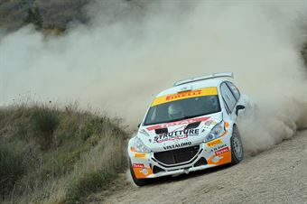 Matteo Franco Vintaloro, Giuseppe Buscemi (Peugeot 208 T16 R5 #12, CST Sport), CAMPIONATO ITALIANO RALLY TERRA