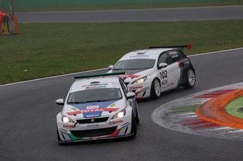 Perucca Orfei Pirovano (Arduini Corse,PeugeoT 308 MI16 TCT#103) , TCR ITALY TOURING CAR CHAMPIONSHIP