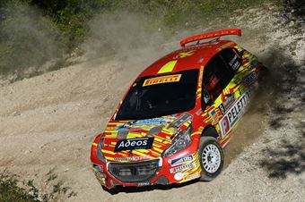 Paolo Andreucci, Rudy Briani (Peugeot 208 T16 R5 #8, Maranello Corse), CAMPIONATO ITALIANO RALLY TERRA