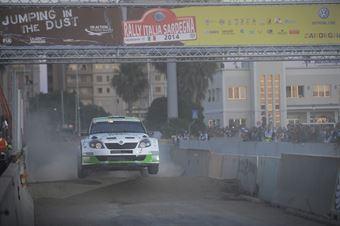 Umberto Scandola, Guido DAmore (Skoda Fabia S2000, #101) Car Racing, SSS1 Citt? di Cagliari, CAMPIONATO ITALIANO RALLY TERRA