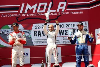 Podio gara 1 Federico Scionti (Wolf GB08 Thunder #31)Lorenzo Pegoraro (Best Lap,Wolf GB08 Thunder #91)Giacomo Pollini (ASD Giacomo Race,Wolf GB08 Thunder #6), CAMPIONATO ITALIANO SPORT PROTOTIPI
