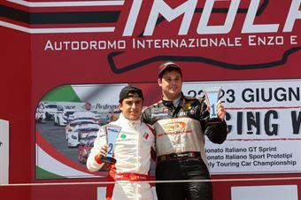 Gara 1 Andrea Baiguera (Brixia Horse Power,Wolf GB08 Thunder #19) Castillo Ruiz Fidel (Ascari Driver Academy,Wolf GB08 Thunder #17), CAMPIONATO ITALIANO SPORT PROTOTIPI