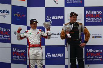 Andrea Baiguera (CO2 Motorsport,Wolf GB08 Thunder #19) Castillo Fidel Jr. (Ascari Driver Academy,Wolf GB08 Thunder #17), CAMPIONATO ITALIANO SPORT PROTOTIPI