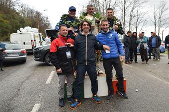 primi tre assoluti insieme ai direttori di gara , CAMPIONATO ITALIANO VELOCITÀ MONTAGNA