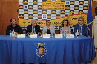 Un momento della Conferenza Stampa, CAMPIONATO ITALIANO WRC