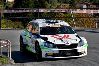 Christian Merli, Anna Tomasi (Skoda Fabia R5 #22, Vimotorsport), COPPA RALLY DI ZONA