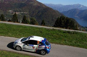 Sara Micheletti, Romano Belfiore (Peugeot 208 R2 #79, Movisport), COPPA RALLY DI ZONA