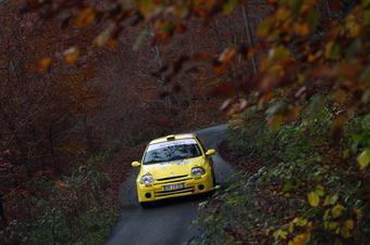 Nazareno Pellitteri, Michele Lo Monaco (Renault Clio #94, PS Start), COPPA RALLY DI ZONA