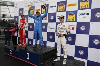 Podio gara 1, Igor Fraga (DR Formula,F3 Tatuus 318 A.R. #17)Frederik Vesti  (Prema Powerteam,F3 Tatuus 318 A.R. #2)Raul Guzman (DR Formula,F3 Tatuus 318 A.R. #41), FORMULA REGIONAL EUROPEAN CHAMPIONSHIP
