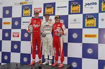 Podio Rookie gara 2 Raul Guzman (DR Formula,F3 Tatuus 318 A.R. #41)Frederik Vesti  (Prema Powerteam,F3 Tatuus 318 A.R. #2)Enzo Fittipaldi (Prema Powerteam,F3 Tatuus 318 A.R. #74), FORMULA REGIONAL EUROPEAN CHAMPIONSHIP