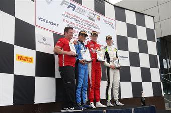 Podio gara 1,Frederik Vesti  (Prema Powerteam,F3 Tatuus 318 A.R. #2)Igor Fraga (DR Formula,F3 Tatuus 318 A.R. #17) David Schumacher (US Racing,F3 Tatuus 318 A.R.#27), FORMULA REGIONAL EUROPEAN CHAMPIONSHIP