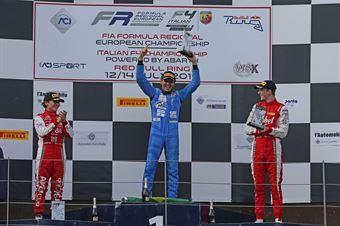 Podio gara 3 Igor Fraga (DR Formula,F3 Tatuus 318 A.R. #17) Enzo Fittipaldi (Prema Powerteam,F3 Tatuus 318 A.R. #74) Frederik Vesti  (Prema Powerteam,F3 Tatuus 318 A.R. #2), FORMULA REGIONAL EUROPEAN CHAMPIONSHIP