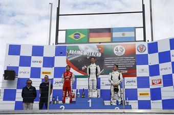 Podio gara 1 David Schumacher (US Racing,F3 Tatuus 318 A.R.#27) Enzo Fittipaldi (Prema Powerteam,F3 Tatuus 318 A.R. #74), FORMULA REGIONAL EUROPEAN CHAMPIONSHIP