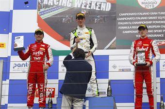 Podio Rookie gara 1 David Schumacher (US Racing,F3 Tatuus 318 A.R.#27) Enzo Fittipaldi (Prema Powerteam,F3 Tatuus 318 A.R. #74) Frederik Vesti  (Prema Powerteam,F3 Tatuus 318 A.R. #2), FORMULA REGIONAL EUROPEAN CHAMPIONSHIP