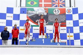 Podio gara 2 Frederik Vesti  (Prema Powerteam,F3 Tatuus 318 A.R. #2) Enzo Fittipaldi (Prema Powerteam,F3 Tatuus 318 A.R. #74) Olli Caldwell (Prema Powerteam,F3 Tatuus 318 A.R. #64), FORMULA REGIONAL EUROPEAN CHAMPIONSHIP