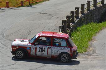 Canetti Enrico,Senestraro MArcello(A112 Abarth,Team Bassano,#204), CAMPIONATO ITALIANO RALLY AUTO STORICHE
