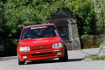 Florio Luca,Basile Alessio(Peugeot 205 gti,Equipe Vitesse,#44), CAMPIONATO ITALIANO RALLY AUTO STORICHE