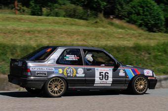 Brandalese Gianni,Rosso Ilvo(Peugeot 309 gti,Biella Motor Team,#56), CAMPIONATO ITALIANO RALLY AUTO STORICHE