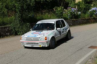 Tesio Federico,Tortone Eraldo(Peugeot 205 gti,Meteco corse,#78), CAMPIONATO ITALIANO RALLY AUTO STORICHE
