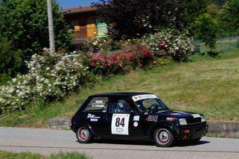 Liprandi Evasio,Bobba Alberto(Renaul 5 Alpine,Nordovest Racing,#84), CAMPIONATO ITALIANO RALLY AUTO STORICHE