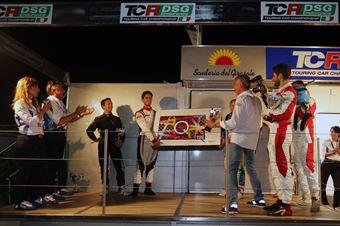Podio qualifying Race, Pelatti Volpato (Scuderia del Girasole, Audi RS3 LMS TCR DSG #7), Dionisio Barri (BF Motorsport,Audi RS3 LMS TCR DSG #8), Capello Perucca Fontana (Scuderia del Girasole, Audi RS3 LMS TCR DSG #1), TCR DSG ENDURANCE