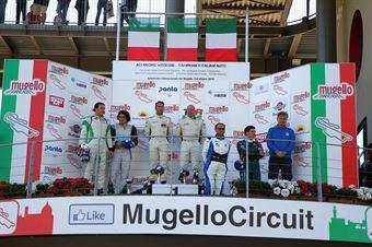 Podio Piccin Dall'Antonia (BF Motorsport,Cupra TCR DSG #15) Simone Vullo Pellegrini (BD Racing,Cupra TCR DSG #28) Gurrieri Scalvini (WW Motorsport, Volkswagen Golf GTI TCR DSG #4), TCR DSG ITALY ENDURANCE