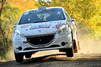 Davide Bartolini Alexandra Prunache, Peugeot 208 R2 #81, CAMPIONATO ITALIANO RALLY TERRA