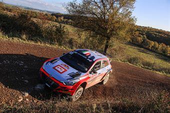 Antonio Cairoli, Anna Tomasi, Hyundai i20 R5 #14, CAMPIONATO ITALIANO RALLY TERRA