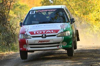 Giacomo Matteuzzi Marco Piazzini, Peugeot 106 #99, CAMPIONATO ITALIANO RALLY TERRA