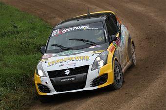 Mattia Zanin Stefano Lovisa, Suzuki Swift R1 #106, CAMPIONATO ITALIANO RALLY TERRA