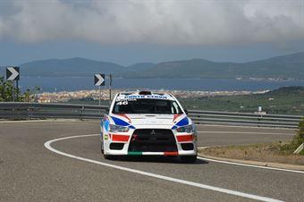 Mario Murgia ( Mitsubishi Lancer Evo X, Porto Cervo Racing #46), CAMPIONATO ITALIANO VELOCITÀ MONTAGNA