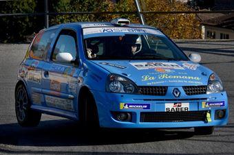 Moreno Cambiaghi, Lara Cere (Renault Clio #104, New Turbomark), COPPA RALLY DI ZONA