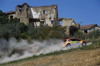 Paolo Andreucci, Rudy Briani (Peugeot 208T16 R5 #8, Maranello Corse), COPPA RALLY DI ZONA
