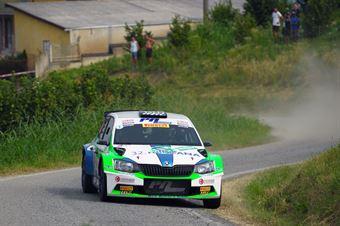 Corrado Pinzano, Roberta Passone (Skoda Fabia R5 #5, New Drivers Team), COPPA RALLY DI ZONA