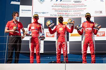 Race 1 Main and Rookie Podium, FORMULA REGIONAL EUROPEAN CHAMPIONSHIP