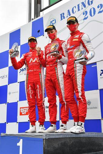 podium race 1 rookie, F. REGIONAL EUROPEAN CHAMPIONSHIP BY ALPINE